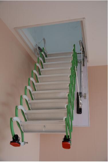 电动折叠楼梯矢量图