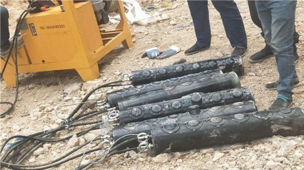 梅州混凝土墙用平劈裂机快速拆除不用破碎锤设备如何图片