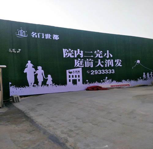 徐水县工地墙面塑胶草坪厂家多少钱图片