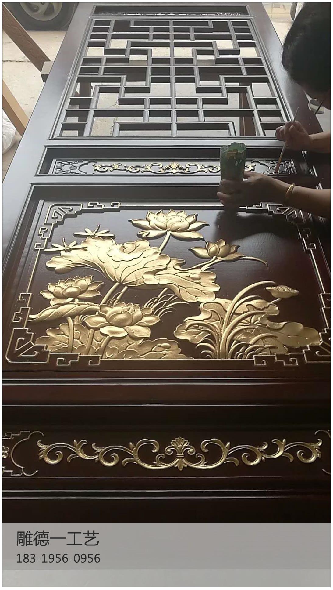 仿古花木雕角花(装修花格定制)雕刻仿古窗花