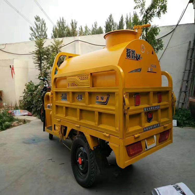 内蒙古自治区时风三轮洒水车2立方改装生产图片