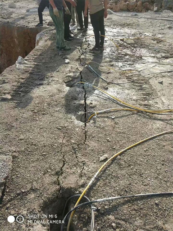 土石方工程破碎石头劈裂机中山