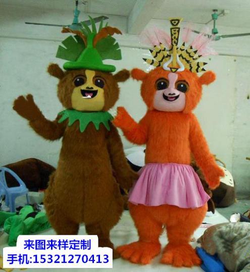 天津卡通人偶服装定做多少钱,宣传服装道具加工