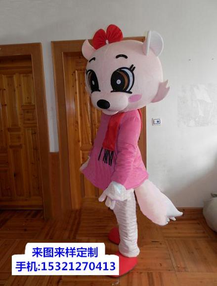 浙江杭州卡通人偶服装定做厂家,礼仪毛绒公仔颜色多