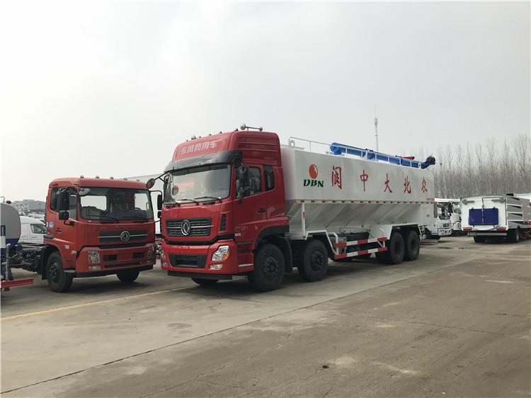 7吨猪场电动运料车 程力汽车运饲料罐车厂家报价