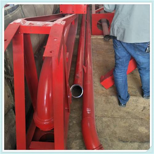 槽钢或圆管结构,大臂,回转轴承,耐磨输送管路,加大型配重箱,设备稳定