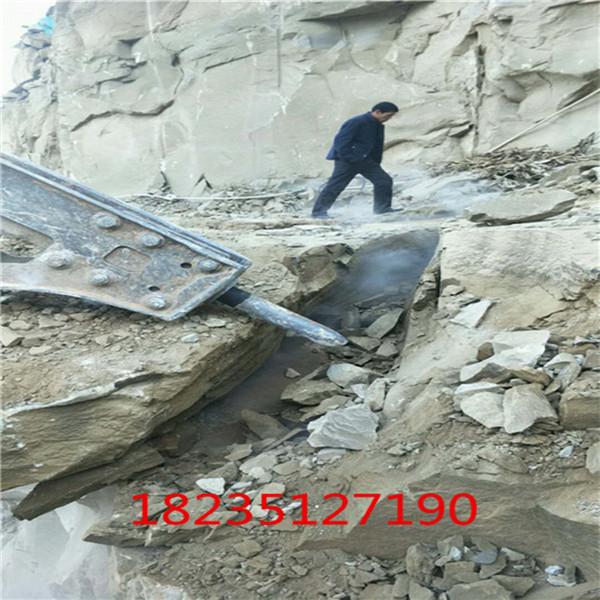 娄底挖机机打不动岩石破裂机用多久