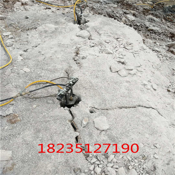 梧州静态裂石矿山裂石机调试效率快不快