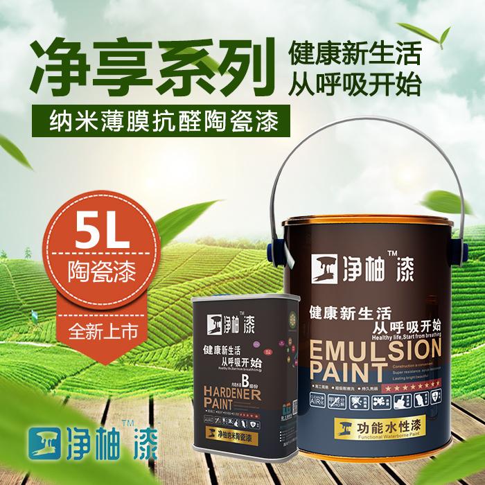 臣工净柚漆净享系列纳米抗醛陶瓷漆5L装水性漆