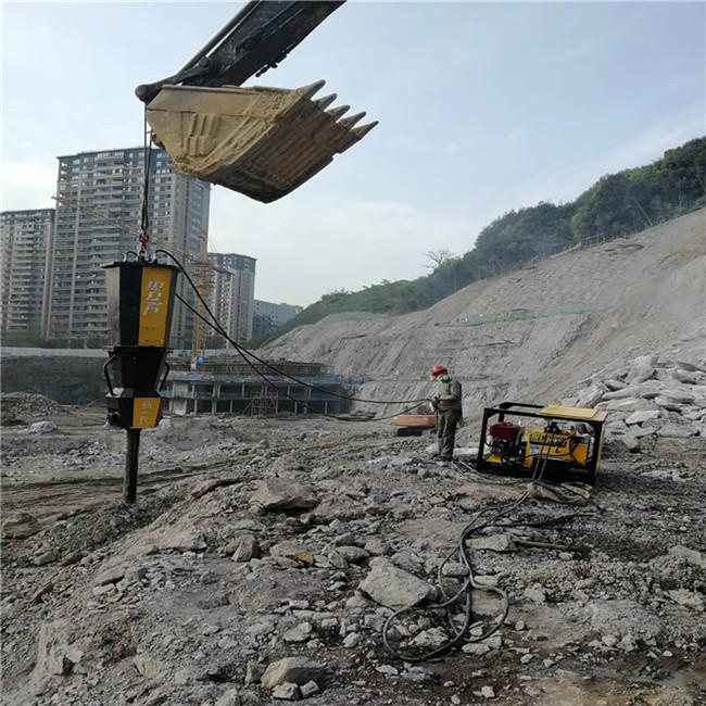 银川挖机炮头产量低用岩石解体破石器/开挖方案