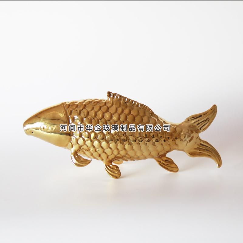 大鲤鱼造型玻璃瓶金龙鱼造型玻璃工艺瓶动物鱼型醒器