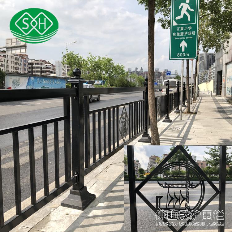 东海岛公轮隔栏批发 乙型护栏 湛江机动车护栏直销