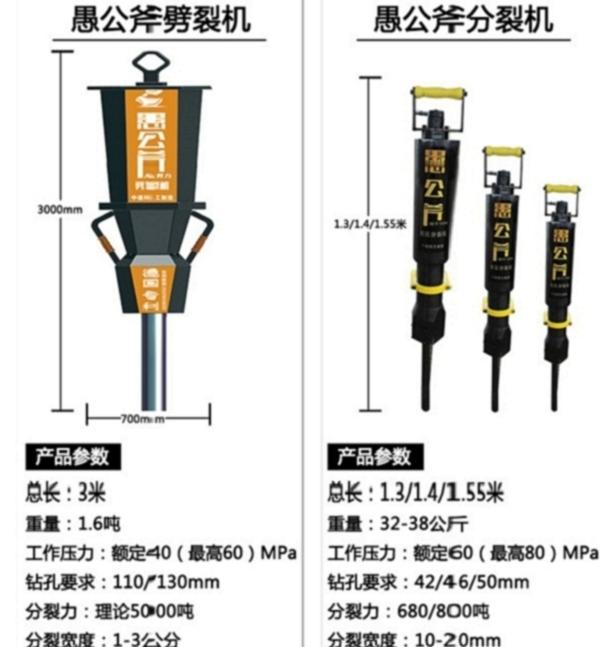 黄南挖机锤打不动用劈石机产量