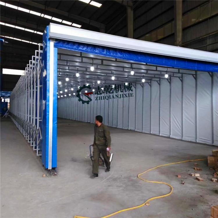 伸缩喷漆房 废气处理成套设备uv光氧催化废气处理净化器厂家