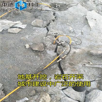 把硬石头破开的液压分石机要钻孔吗内乌兰察布把硬石头破开的液压分石机要钻孔吗供应