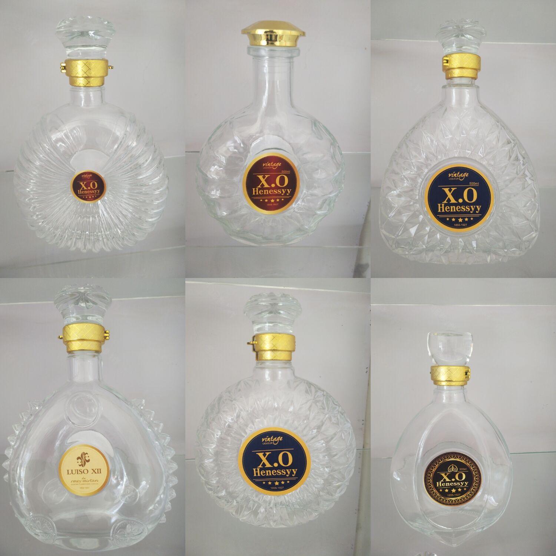 章丘晶白料酒瓶价格 洋酒瓶厂家 彩色酒瓶 冰酒瓶 外贸瓶 红酒瓶