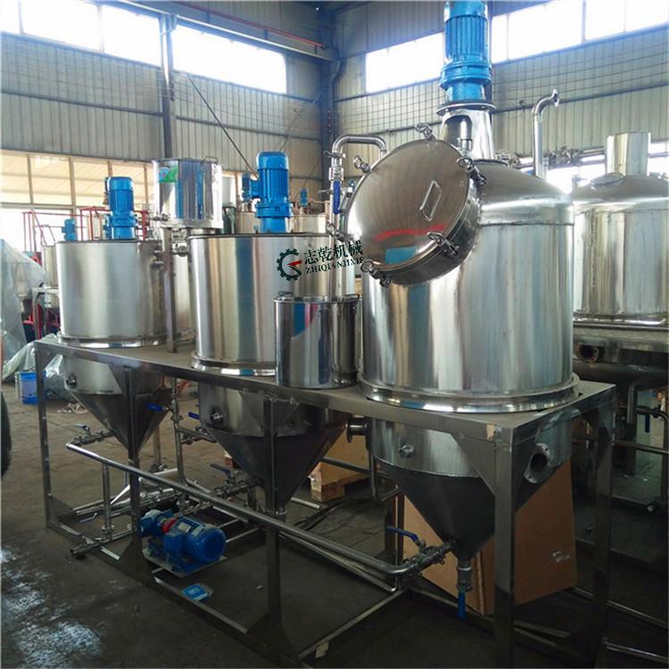食用油精炼设备 脱酸脱臭设备 菜籽油压榨精炼工艺 牡丹油精炼机