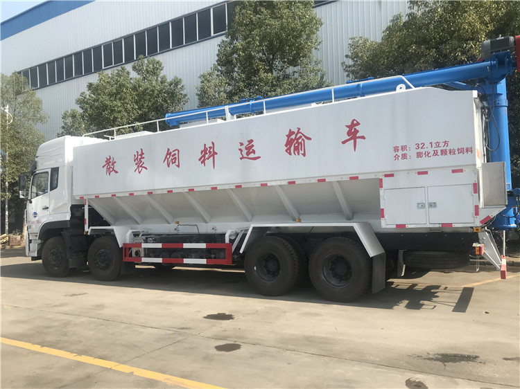 湖北随州电动饲料罐车 20吨饲料罐车厂家价位