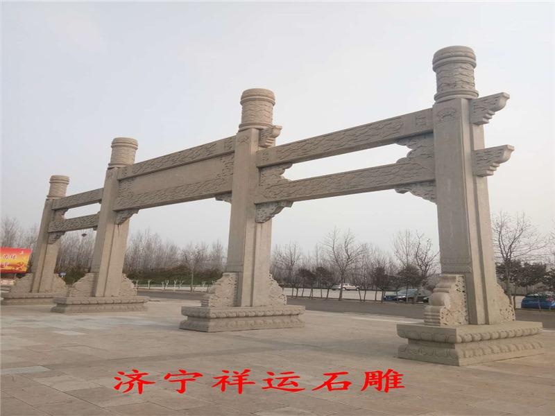 赣州石雕牌坊六角凉亭厂家供应