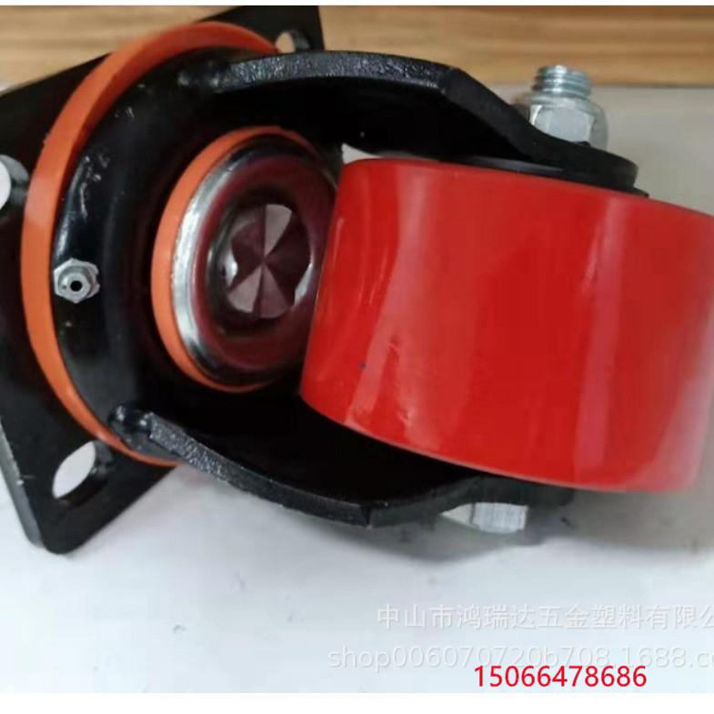 青海黄南6寸纯铁缓冲超重型刹车脚轮-12寸3吨脚轮厂家定做定制