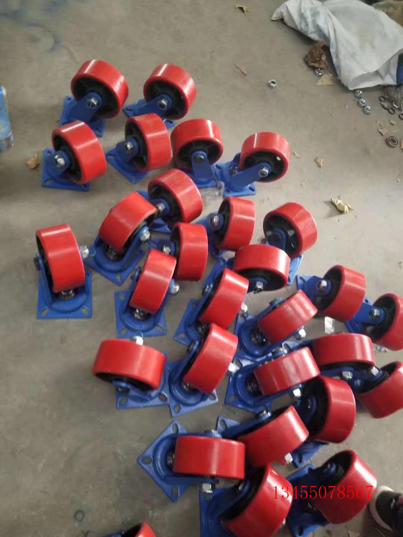 黑龙江省重型铁芯聚氨酯脚轮 聚氨酯超重型工业脚轮专注