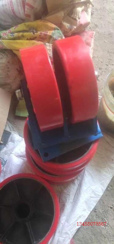 海南省重型橡胶充气万向轮 重型缓冲定向脚轮+现货
