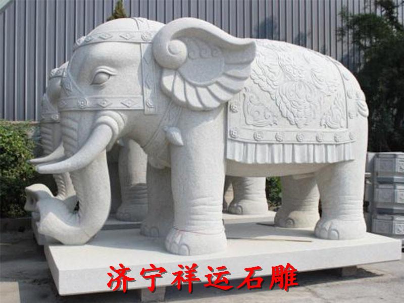 梅河口石雕大象价格陵园牌楼厂家供应