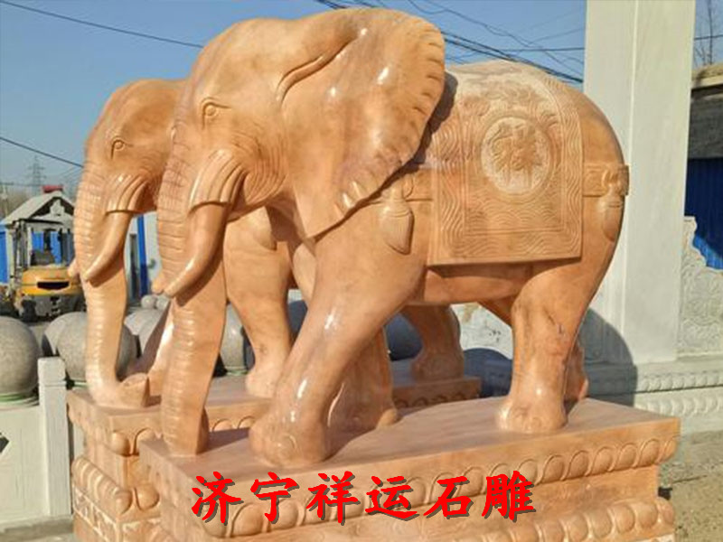 长乐青石石雕大象石雕龙柱定制厂家质优价廉