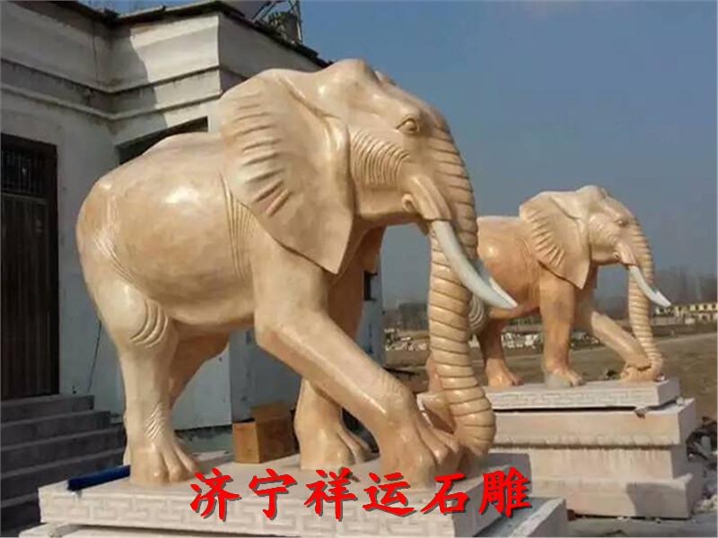 北安汉白玉石雕大象石牛石马厂家定制一手资源