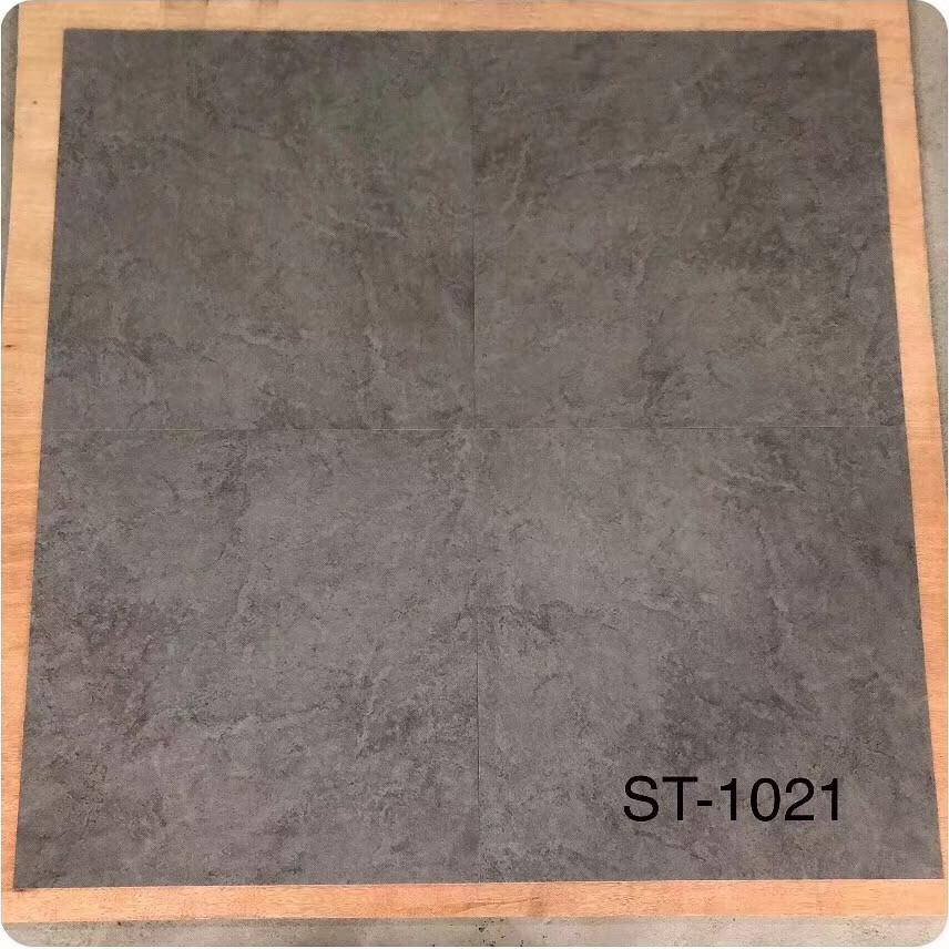 佛山工程石纹塑料地板 水泥纹深浅灰色胶地板仿抛光砖PVC石塑地板