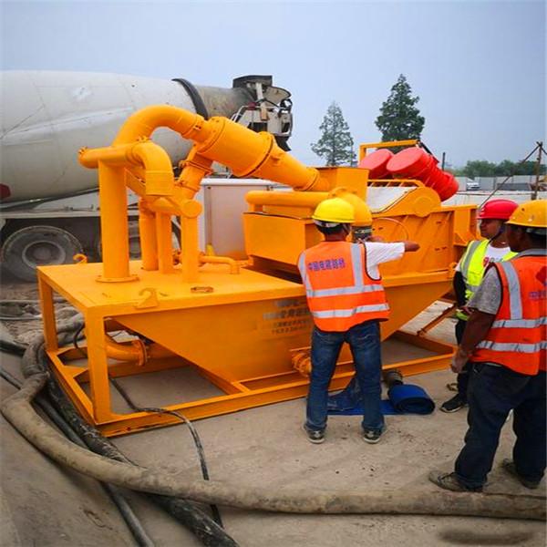 水井钻机泥沙过滤机操作视频