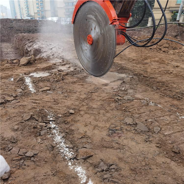 黑龙江哈尔滨桥墩拆除电动岩石锯机